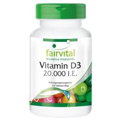 Vitamin D3 20000 I.E., 120 Tabletten