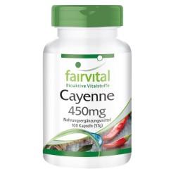 Cayenne 450 mg, 100 Kapseln